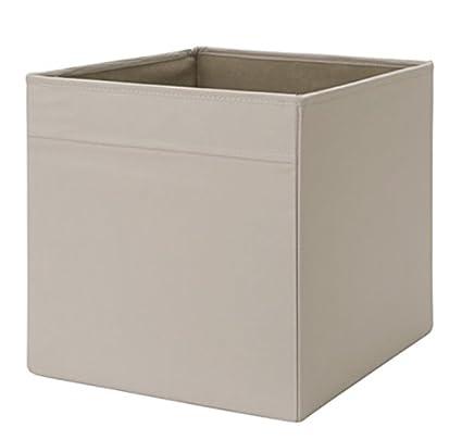 IKEA Drona Caja, beige, 4 unidades