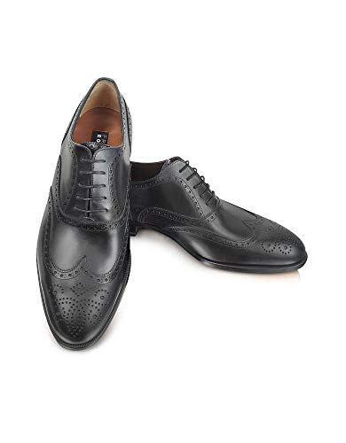 Fratelli Rossetti Men s 2160188301 Black Leather Lace-Up Shoes 513aac7ad57