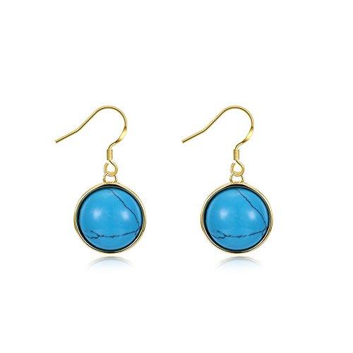 (Turquoise earrings high fashion earrings new women trend earrings E2055)