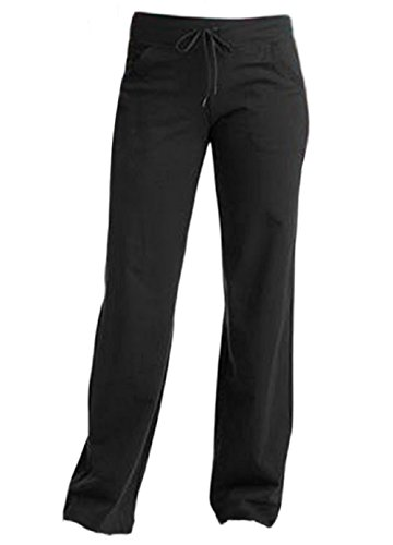 "Price comparison product image Women's Regular DriMore Relaxed Pants 32"" inseam Yoga Fitness Activewear, Black (Large)"