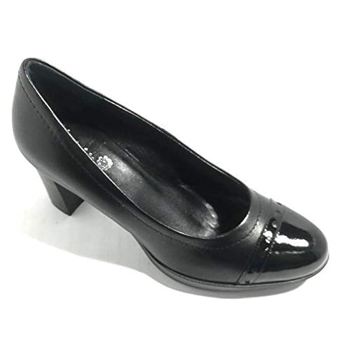 Scarpe E Borse Da Donna Col Tacco Karin 2026 Nappa Vernice Nero Black Slip On Con Fondo Gomma Italy