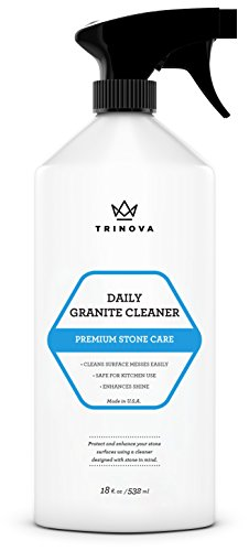 Granite Cleaner and Polish for Daily Use - Enhances Shine and goes on Streakless - For Countertops, Marble, Stone, Bathroom Tile Kitchen, Islands and more (Top Travertine Marble)