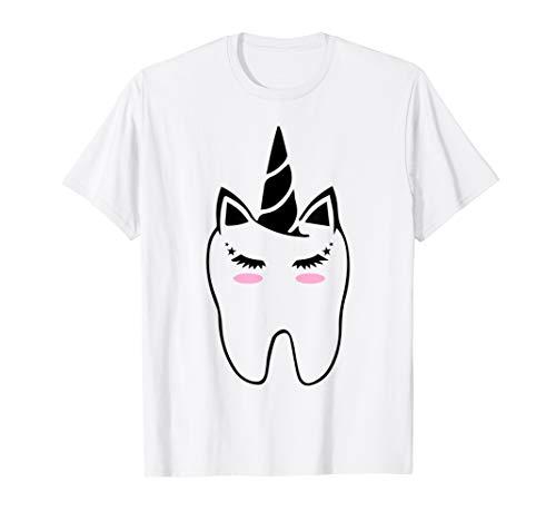 Cute Fairy Unicorn Tooth Dental Assitant Tshirt Dentist Gift]()