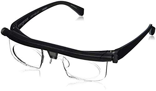 New Version Adjustable Glasses Instant 20/20, High Quality Adjustable Eyewear Instant 20/20 Vision 4 Once Non Prescription Lenses Both Nearsighted Farsighted Variable Focus Reading Glasses