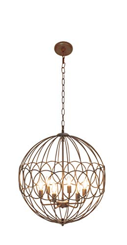 Deco 79 Candle Chandeliers, Large, Copper, Bronze