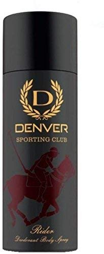 Denver Sporting Club Deodorant Body Spray 165ml (Rider Pack of 2)