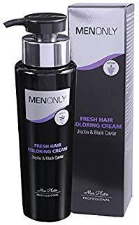 (Mon Platin Men Only Fresh Hair Coloring Cream Jojoba & Black Caviar, 8.5 fl. oz 250ml )