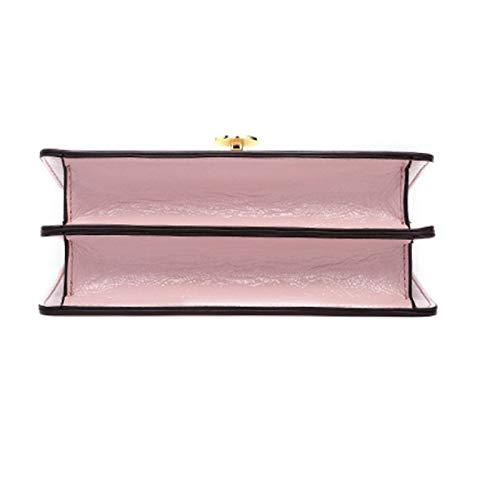 Negro color Trabajo Hombro De Pink Salvaje Costura Elegante Simple 20 Las Mujeres Fiesta Tamaño Mensajero 14cm Bolso Pequeño Cuadrado 8 fw6Op