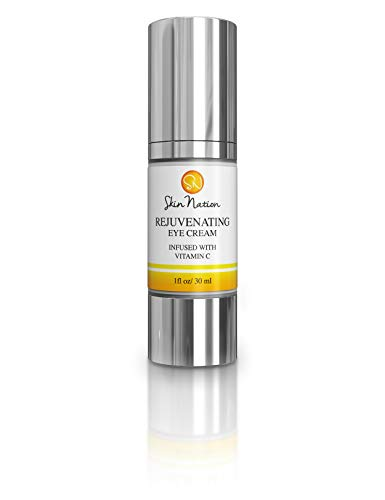 Rejuvenating Eye Cream Anti Aging Eye Cream – Anti Wrinkle and Antioxidants with Organic Natural Ingredients, Vitamin C, B5, MSM, Aloe Vera, Coconut Oil, Jojoba Skin Nation by Michelle Stafford
