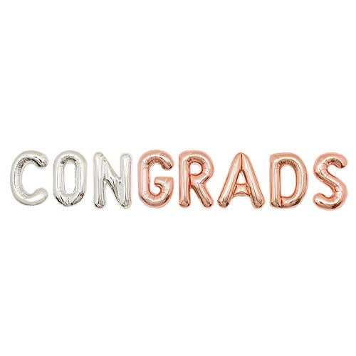 - Graduation Party Supplies 2019 | Congrats Grads Balloon Banner for Class of 2019 Grad Party | 16 inch Foil Letter Balloons | Graduation Party Decorations