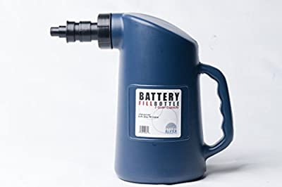 Battery Filler Bottle - For Golf Cart, Automotive, and Industrial Batteries - For Adding Water to Cells - with Auto Stop - Stone River Brand Golf Cart Accessories