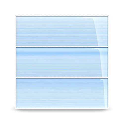 Big Blue Glass Subway Tile for Kitchen Backsplash or Bathroom/Showers, 4x12 (Tub Surrounds That Look Like Subway Tile)