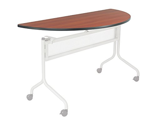Safco Office Meeting Seminar Impromptu Mobile Training Table, Half Round Top - 48 x 24'' Cherry by Safco
