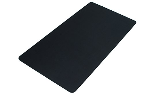 Black XXL Extended Gaming Mouse Mat/Pad - Large, Wide (Long) Mouse Pad, Stitched Edges, Speed Silky Smooth Surface - 36''x18''x0.12'' by GGing