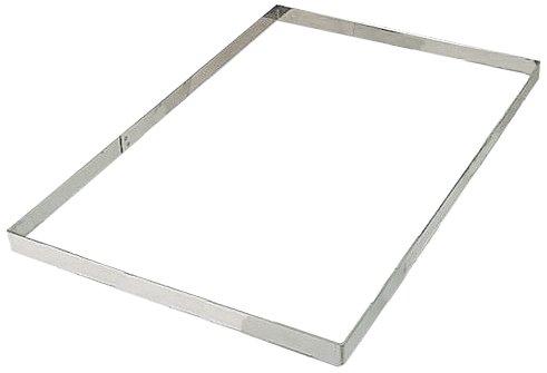Matfer Bourgeat 371003 Rectangular Frame, Silver Matfer Frame