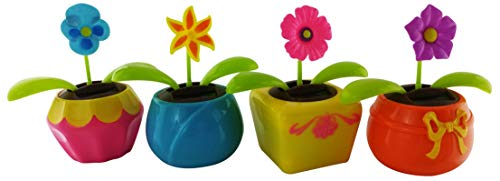 Outdoors By Design Solar Powered Dancing Flowers | Lilly, Pansy, and Wild Flowers | Dancing Toys (4 Pack)