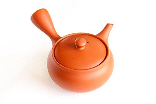 Tokoname tea pot kyusu Kiwami shudei red fuku hira 270ml