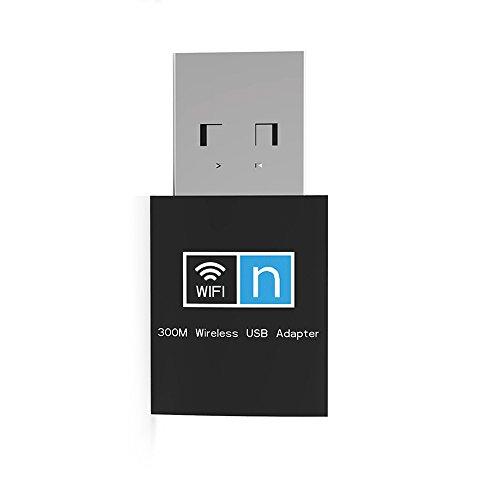 AMUOC Mini USB 300Mbps Wifi Wireless Lan Network Internet Adapter 802.11n/g/b Network Receiver Card Adapter For Desktop PC Usb Wireless Lan Adaptors