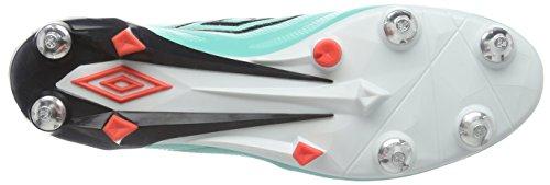 Umbro Velocita 2 Pro SG, Scarpe da Calcio Uomo Verde (Green (Marine/Black/White/Fiery Coral))