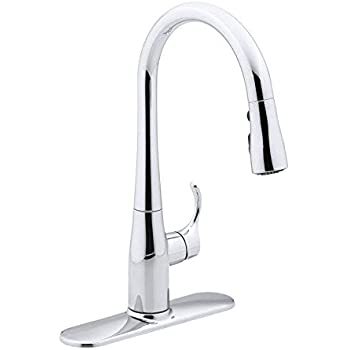 Kohler K 647 Cp Simplice Pull Down Kitchen Sink Faucet