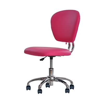 pink-pu-leather-mid-back-task-chair
