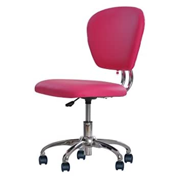 Incroyable New Pink PU Leather Mid Back Task Chair Office Desk Task Chair H20