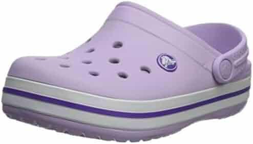 Crocs Kids' Crocband Clog, Lavender/Neon Purple, 9 M US Toddler