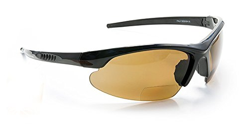 Polarized Bifocal Reading Sunglasses for Running, Cycling, Fishing + 1.50 2.00 2.50 3.00 Power Sun Glasses Magnifiers Tiger Woods Style (+1.00, Black Frame w/ Brown - Tiger Frames Glasses