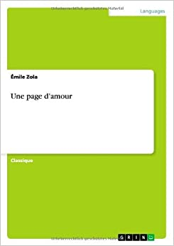 Book Une Page D'Amour by Emile Zola (2013-10-25)