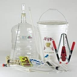 Strange Brew\'s Best Fine Wine Starter Equipment Kit with 6 Gallon Plastic Carboy
