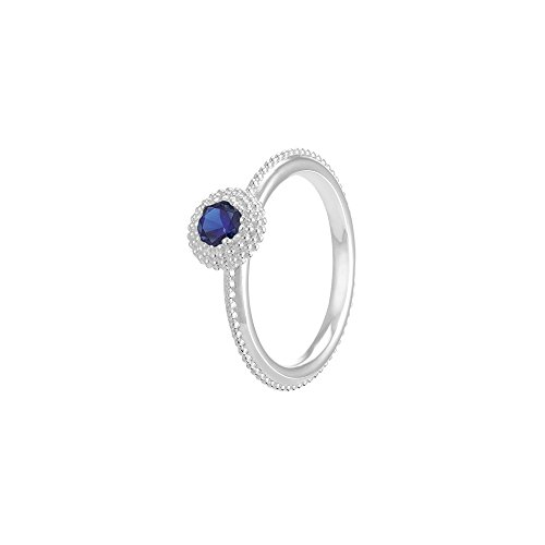 Authentic Chamilia September Soiree Ring with Dark Blue Swarovski Zirconia, Size 8 - 1125-0153 (Chamilia Beads Sapphire)