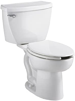 American Standard 2467.164.020 Cadet Right Height Elongated Pressure Assisted Two Piece Toilet with Bedpan Slots, White