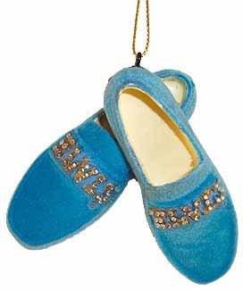 Elvis Presley Blue Suede Shoes Christmas Ornament