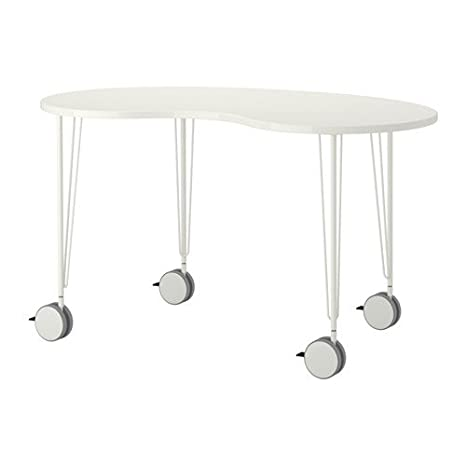 Ikea HISSMON/Krille - Mesa, anacardo Forma, Blanco - 140x75 cm ...