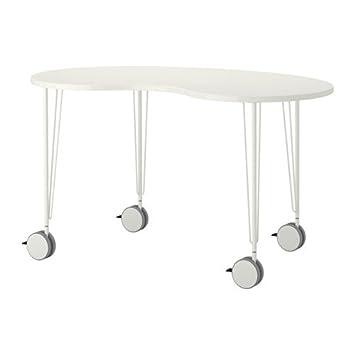 IKEA HISSMON/KRILLE, Tisch, Sattel Aus Acajou, Weiß, 140 X 75