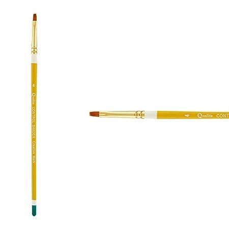 Single Brush - Heavy Bodied Media Creative Mark Qualita Golden Paint Brush Taklon Short Handle Paint Brush for Acrylics Fine Art Oils Angular - Size 5//8in