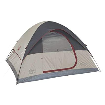 39a50236801 Amazon.com : Coleman Highline 4-Person Dome Tent, 9 x 7 - Gray ...