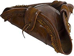 Armor Venue: Leather Pirate Hat Cosplay Costume Cap Brown XL