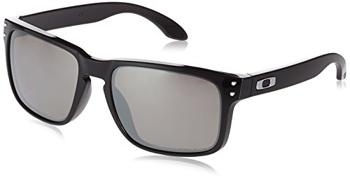 Oakley Men's Holbrook Polarized Iridium Square Sunglasses Polished black 55.01 mm