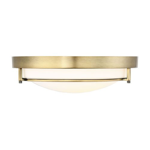 251 First Whittier Natural Brass Two-Light Flush Mount