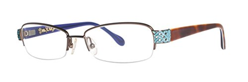 Lilly Pulitzer Lunettes Eve Marron 53MM