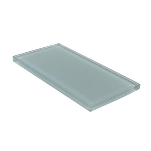 Giorbello Glass Subway Backsplash Tile, 3 x 6, Slate, Sample Tile (1 Piece) (Slate Tile 3x6)