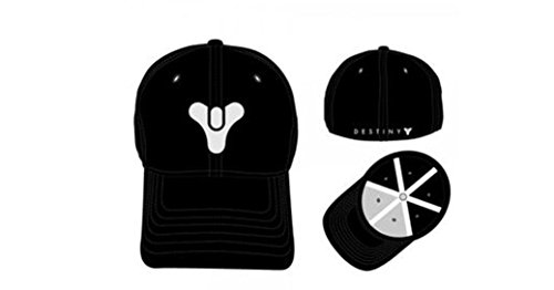 Destiny Game Embroidered Logo Black Flex Fit Baseball Cap (Osfm Flex Cap)