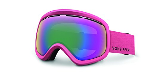 Veezee - Dba Von Zipper Skylab Ski Goggles, Monaco Pink Satin/Smoke Pink Chrome