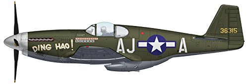 P-51b Mustang Fighter - P-51B Mustang 1/48 Die Cast Model 487th FS, 354th FG, 9th AF, Great Britain 1944 HA8508