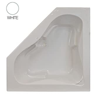 Jacuzzi J5D6060 BCX XXX Signature 60u0026quot; Corner Soaking Bathtub With  Center Drain, ...