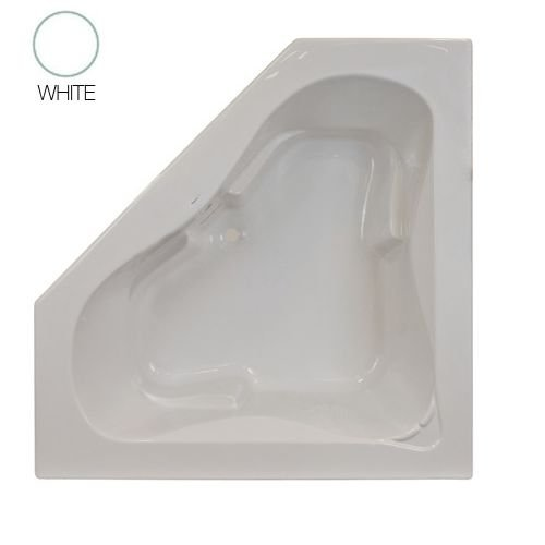 Jacuzzi J5T6060BCXXXXW White 60″ x 60″ Signature Corner Soaking Bathtub with Tiling  ...