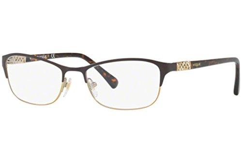 Vogue VO4057B Eyeglass Frames 997-52 - Brown/Pale Gold VO4057B-997-52