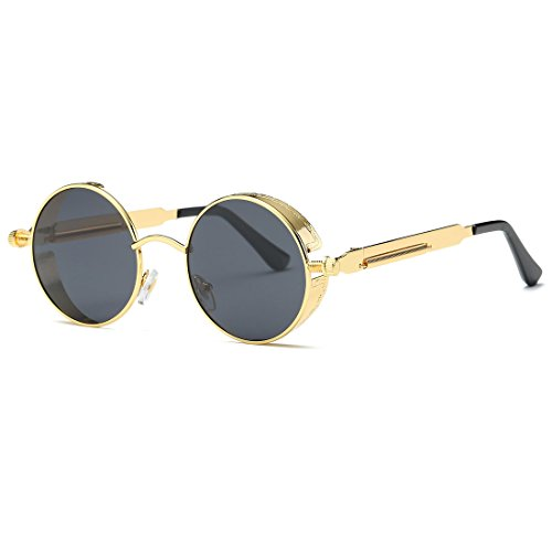 Gold Round Frame Clear Lens Spring Glasses Pretty Little Thing Sale Visa Payment Buy Cheap Finishline QnA67NP