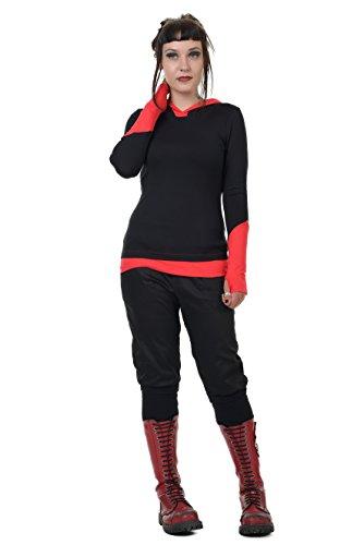 3elfen sudadera para capucha con o con Negro mu Hada mujer Rojo eca pu de rrdqfRw